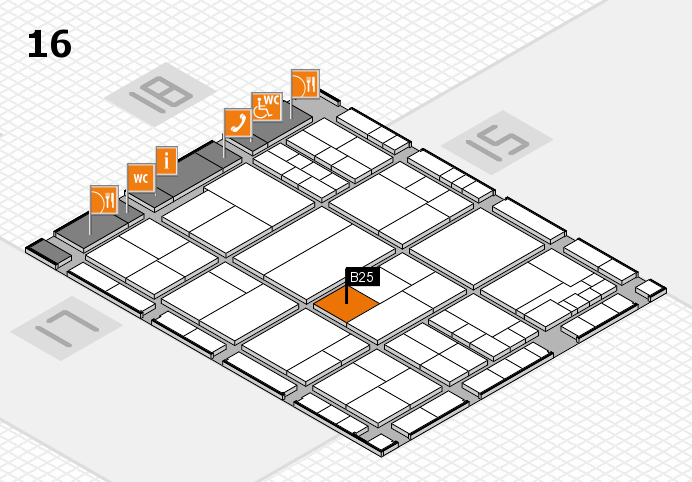 interpack 2017 hall map (Hall 16): stand B25