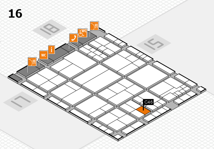 interpack 2017 hall map (Hall 16): stand C46