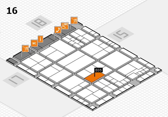interpack 2017 hall map (Hall 16): stand B35