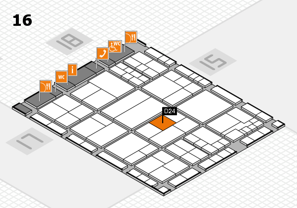 interpack 2017 hall map (Hall 16): stand D24
