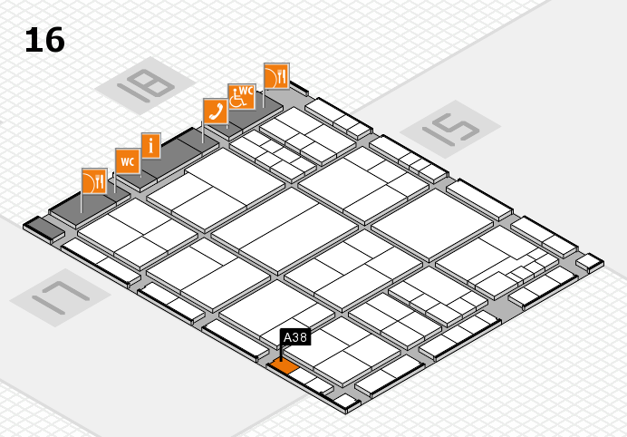 interpack 2017 hall map (Hall 16): stand A38