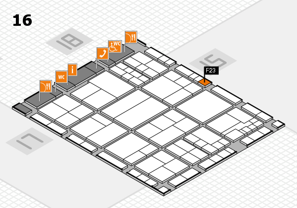 interpack 2017 hall map (Hall 16): stand F23