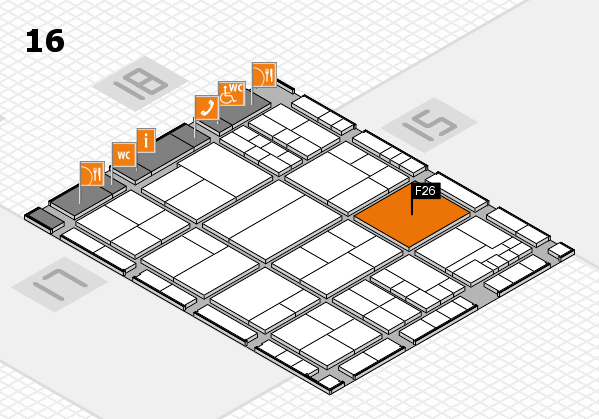 interpack 2017 hall map (Hall 16): stand F26