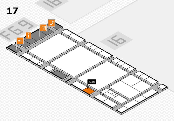 interpack 2017 Hallenplan (Halle 17): Stand A39