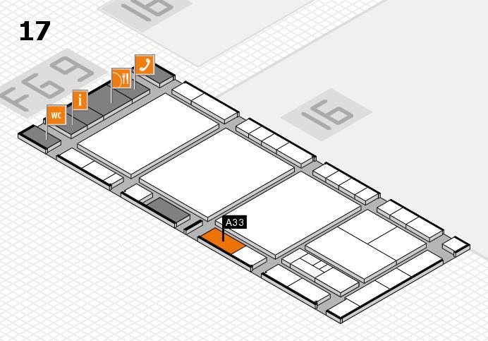 interpack 2017 Hallenplan (Halle 17): Stand A33