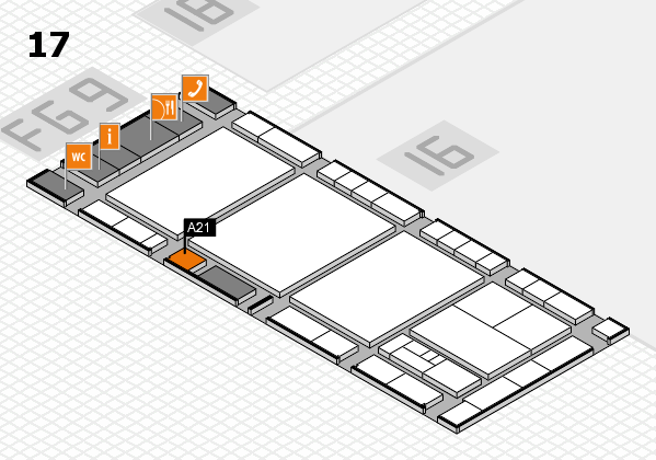 interpack 2017 hall map (Hall 17): stand A21