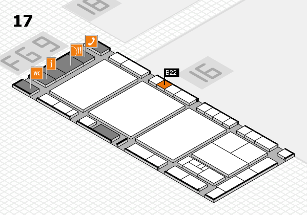 interpack 2017 hall map (Hall 17): stand B22