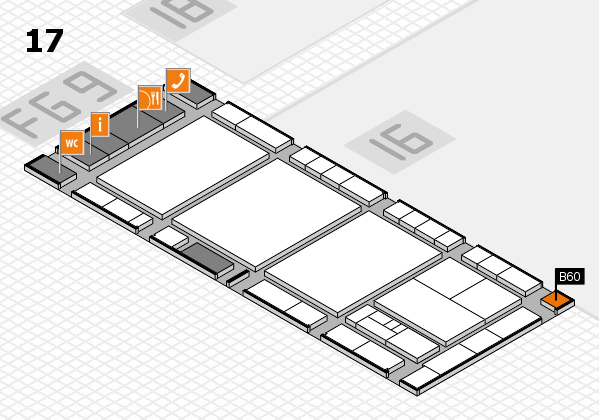interpack 2017 Hallenplan (Halle 17): Stand B60