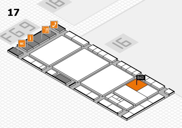 interpack 2017 Hallenplan (Halle 17): Stand B43