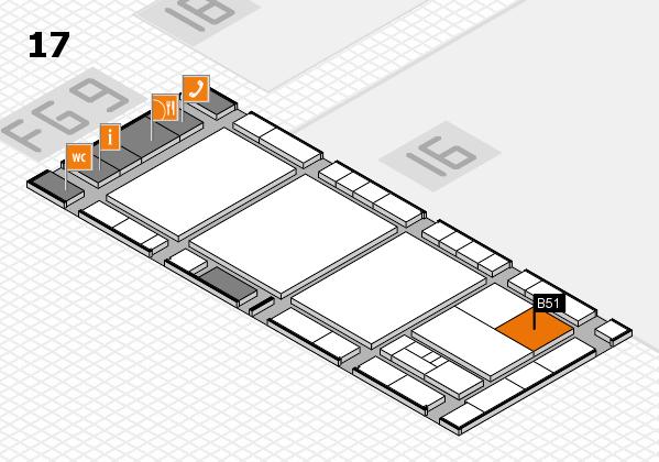 interpack 2017 Hallenplan (Halle 17): Stand B51