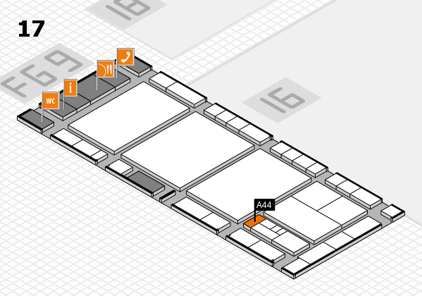 interpack 2017 hall map (Hall 17): stand A44