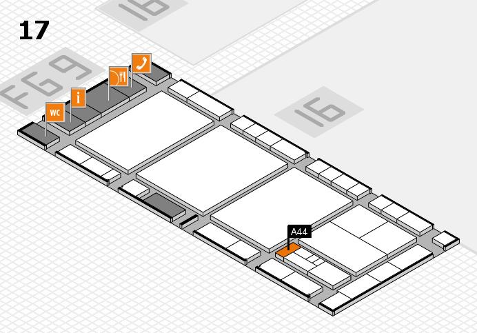 interpack 2017 Hallenplan (Halle 17): Stand A44