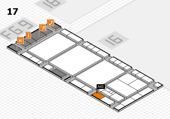 interpack 2017 hall map (Hall 17): stand A43