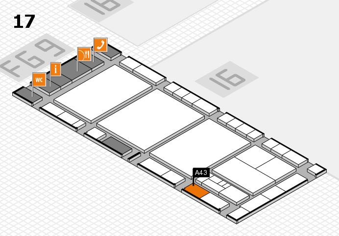 interpack 2017 Hallenplan (Halle 17): Stand A43