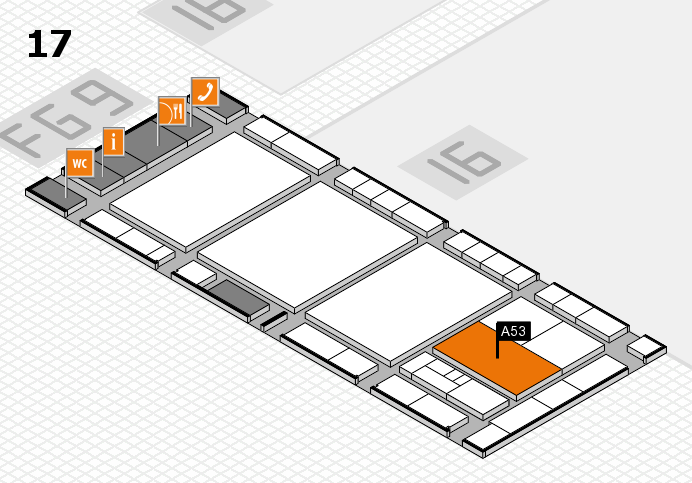 interpack 2017 Hallenplan (Halle 17): Stand A53