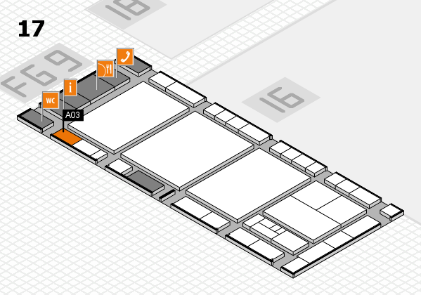 interpack 2017 hall map (Hall 17): stand A03