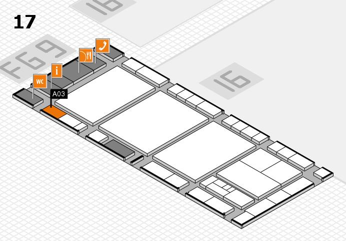 interpack 2017 Hallenplan (Halle 17): Stand A03