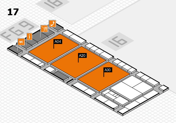 interpack 2017 hall map (Hall 17): stand A04, stand A30