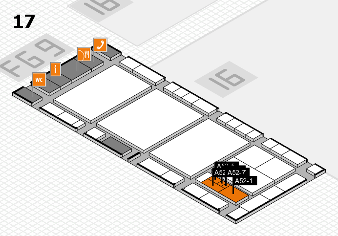 interpack 2017 hall map (Hall 17): stand A52-1, stand A52-7