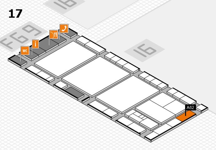 interpack 2017 Hallenplan (Halle 17): Stand A62