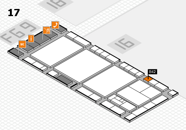 interpack 2017 hall map (Hall 17): stand B42