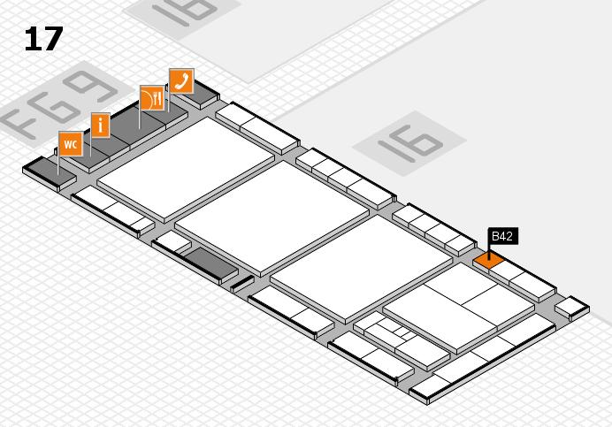 interpack 2017 Hallenplan (Halle 17): Stand B42
