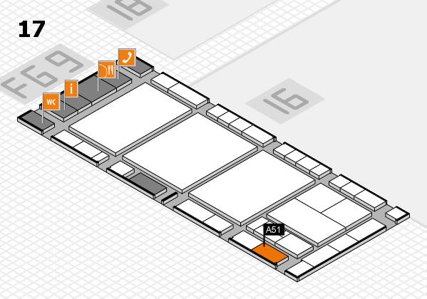 interpack 2017 Hallenplan (Halle 17): Stand A51