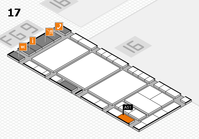 interpack 2017 hall map (Hall 17): stand A51