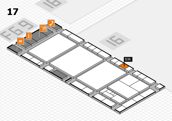 interpack 2017 Hallenplan (Halle 17): Stand B38