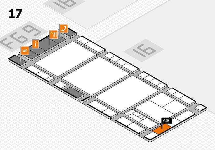 interpack 2017 Hallenplan (Halle 17): Stand A60