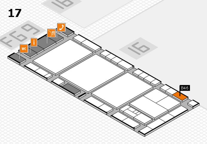 interpack 2017 Hallenplan (Halle 17): Stand B46