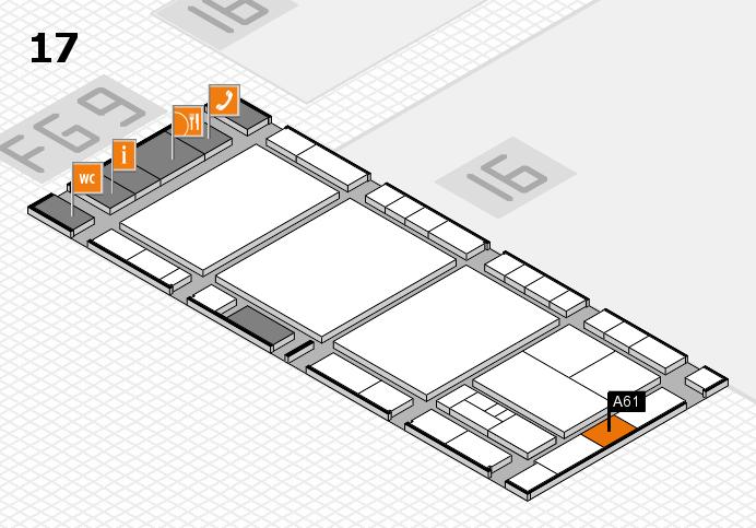 interpack 2017 Hallenplan (Halle 17): Stand A61