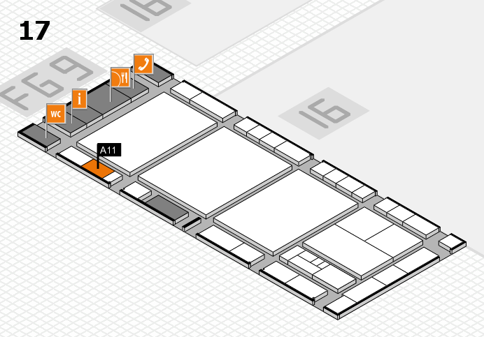 interpack 2017 hall map (Hall 17): stand A11