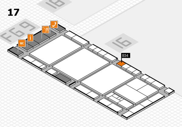 interpack 2017 Hallenplan (Halle 17): Stand B34