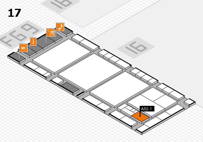 interpack 2017 Hallenplan (Halle 17): Stand A52-1