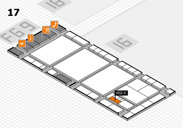 interpack 2017 hall map (Hall 17): stand A52-4