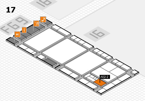interpack 2017 Hallenplan (Halle 17): Stand A52-2