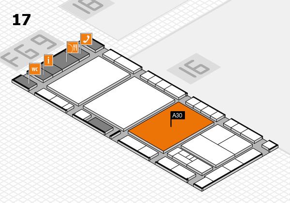 interpack 2017 Hallenplan (Halle 17): Stand A30