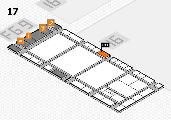 interpack 2017 hall map (Hall 17): stand B30