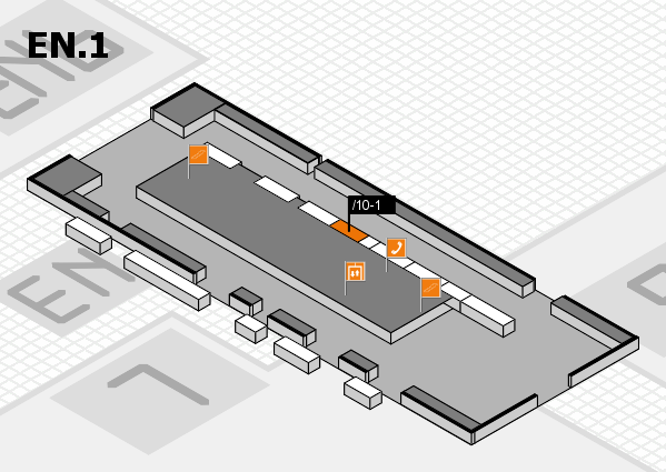 interpack 2017 hall map (North Entrance 1): stand .10-1