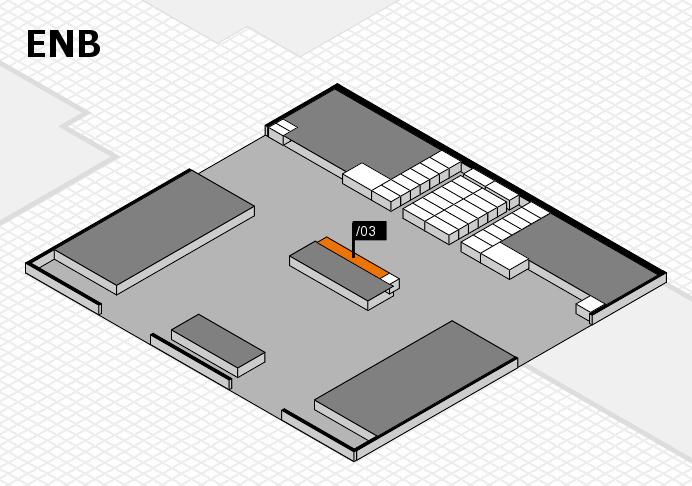interpack 2017 Hallenplan (Eingang Nord B): Stand .03