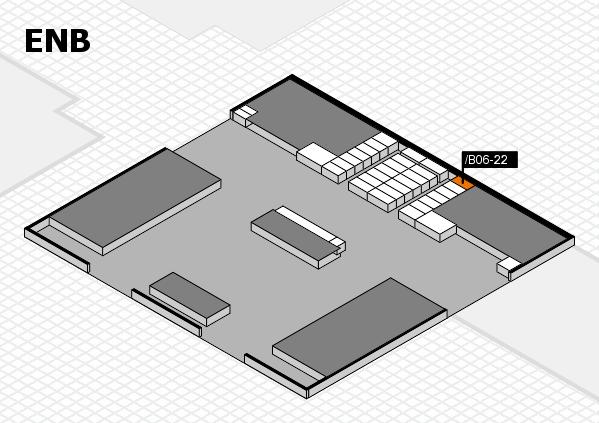 interpack 2017 Hallenplan (Eingang Nord B): Stand .B06-22
