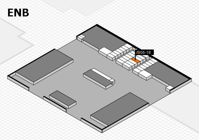 interpack 2017 Hallenplan (Eingang Nord B): Stand .B06-18