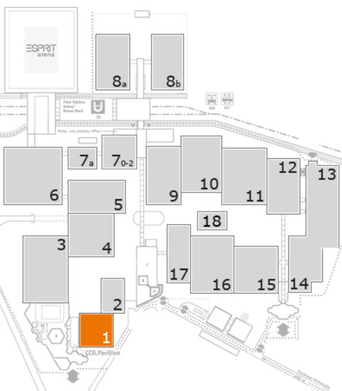 interpack 2017 fairground map: Hall 1