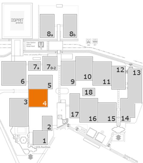 interpack 2017 Geländeplan: Halle 4