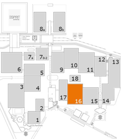 interpack 2017 Geländeplan: Halle 16