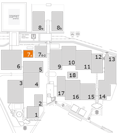 interpack 2017 fairground map: Hall 7a