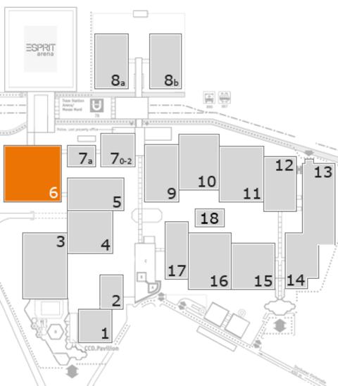interpack 2017 Geländeplan: Halle 6