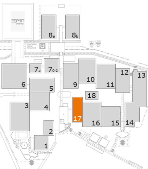 interpack 2017 Geländeplan: Halle 17
