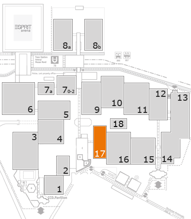 interpack 2017 fairground map: Hall 17